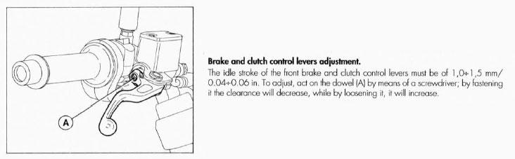 Adjusting  Ducati Monster Clutch Screw